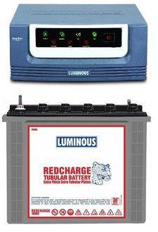 Luminous Eco Volt 1050 900VA Inverter (With RC18000 Tubular Battery) Price in India