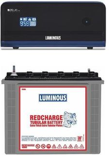 Luminous Zelio1100 900VA Inverter (With RC 18000 Tubular Battery) Price in India