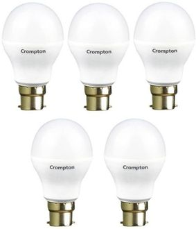 Crompton 14W B22 RoundLED Bulb (White, Pack Of 5) Price in India