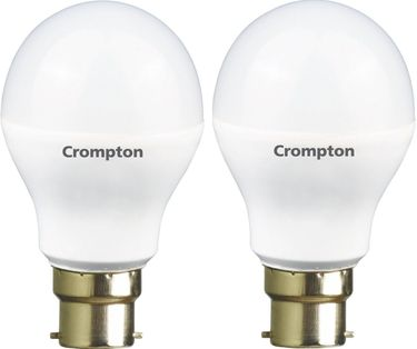 Crompton 12W B22 Round LED Bulb (White, Pack of 2) Price in India