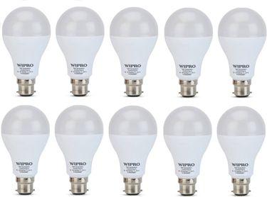 Wipro Garnet 18W B22 LED Bulb (White, Pack of 10) Price in India