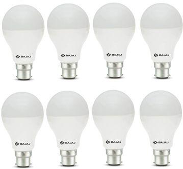 Bajaj 12W B22 Round LED Bulb  (White, Pack of 8) Price in India