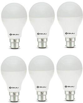 Bajaj 12W  B22 Round LED Bulb (White, Pack of 6) Price in India