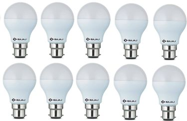 Bajaj 9W  B22 Round LED Bulb (White, Pack of 10) Price in India