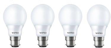Wipro Garnet 9W Standard B22 LED Bulb (White, Pack of 04) Price in India