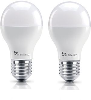Syska 7W E27 LED Bulb (Warm White, Pack of 2) Price in India