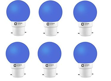 Orient Electric 0.5W B22 LED Bulb (Pack of 6, Blue) Price in India