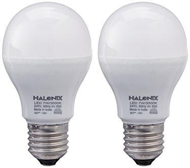 Halonix Photon Plus 7W E27 LED Bulb (Pack of 2, Warm White) Price in India