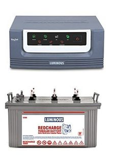 Luminous Eco Watt 850 Inverter (With Redcharge 15000 120Ah Tubular Battery) Price in India