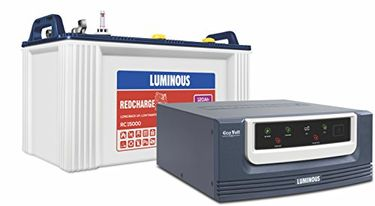 Luminous Ecovolt 700 Inverter (with Red Charge 15000 120Ah TubularBattery) Price in India