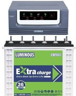 Luminous EcoVolt 1050 Inverter (with EC 18036 150Ah Tubular Battery) Price in India
