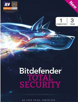 Bitdefender Total Security 2017 1 PC 3 Year Antivirus Price in India