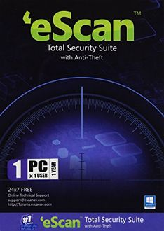 eScan Total Security Suite with Anti-Theft 1 PC 1 Year Antivirus Price in India