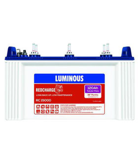 Luminous Redcharge RC 15000 120Ah Tabular Plate Battery Price in India