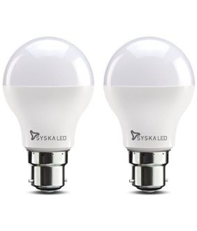 Syska 9W B22 LED Bulbs (Pack of 2, Warm White) Price in India
