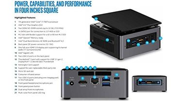 Intel (NUC7i7BNHL) Mini PC (With 500GB SSD) Price in India