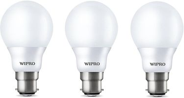 Wipro Garnet 7W B22 LED Bulb (Yellow, Pack of 3) Price in India
