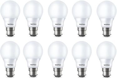 Wipro Garnet 7W B22 LED Bulb (Yellow, Pack of 10) Price in India
