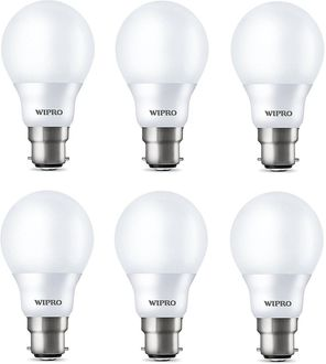 Wipro Garnet 7W B22 LED Bulb  (Yellow, Pack of 6) Price in India