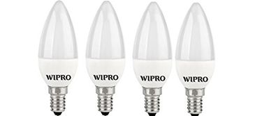 Wipro Garnet 3W E14 Candle LED Bulb (White, Pack of 4) Price in India