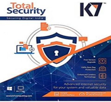 K7 Total Security 2016 5 PC 1 Year Antivirus Price in India