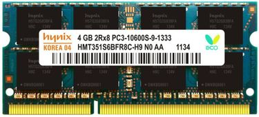 Hynix 1333 4GB DDR3 Laptop Ram Price in India