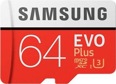 Samsung EVO Plus (MB-MC64GA) 64GB Class 10 (100MB/s) Memory Card (With Adapter) Price in India