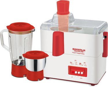 Maharaja Whiteline Royal Happiness JX-118 Juicer Mixer Grinder  (2 Jars) Price in India
