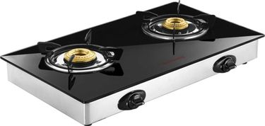 Butterfly Jet 2 Burner Glass Manual Gas Stove Price in India