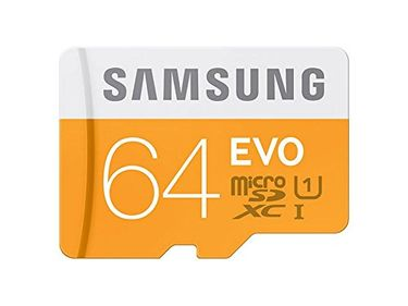 Samsung EVO (MB-MP64GA/IN) 64GB Class 10 (100MB/S) Memory Card (With Adapter) Price in India