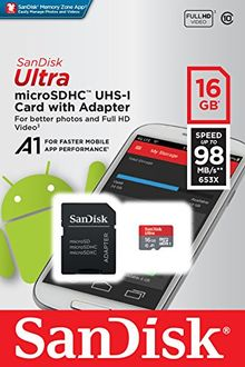 SanDisk Ultra 16GB MicroSDXC Class 10(A1) Memory Card (With Adapter) Price in India