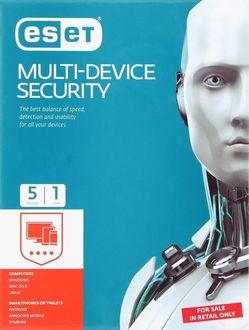 Eset Multi Device Security 2017 5 PC 1 Year Antivirus Price in India