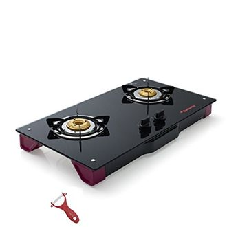 Butterfly Spectra Plus 2 Burner Glass Top Gas Stove Hob Price in India