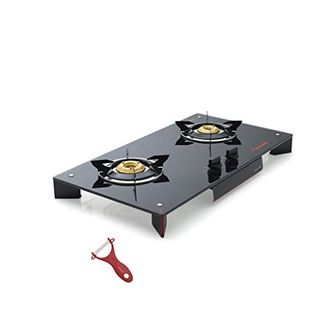 Butterfly Prism 2 Burner Glass Top Gas Stove Hob Price in India