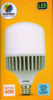 Wipro Garnet 40W Standard B22 4000L LED Bulb (White) Price in India
