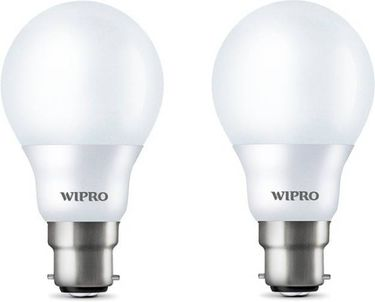 Wipro 7W Arbitrary B22 700L LED Bulb (White,Pack of 2) Price in India