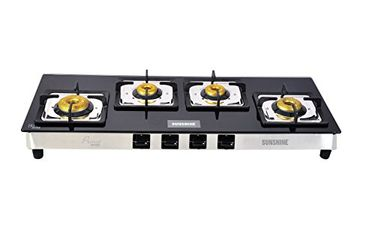 Sunshine Olympic Prime 4 Burner Toughened Glass Gas Stove Price in India