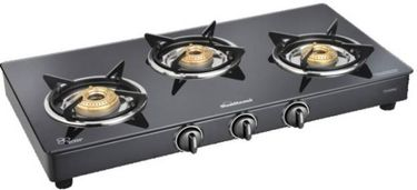 Sunflame Classic 3B BK Glass Mannual Gas Stove Price in India