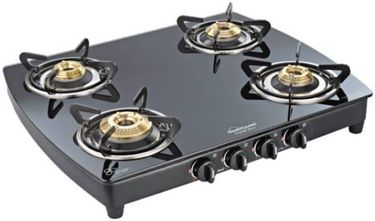 Sunflame Crystal Plus Dx 4B BK Auto Glass Automatic Gas Stove Price in India