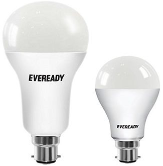 Eveready 9W And 18W B22 LED Bulb (White,Pack of 2) Price in India