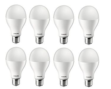 Philips Steller Bright 17W E27 1700L LED Bulb (White,Pack of 8) Price in India