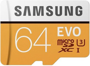 Samsung EVO 64GB MicroSDXC Class 10 UHS 3 (100MB/s) Memory Card Price in India