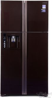 Hitachi R W720FPND1X GBK 638 Litres 5 Star inverter Side By Side Door Refrigerator Price in India