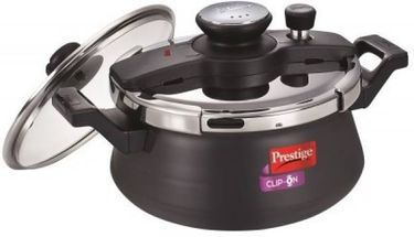 Prestige clip on handi Hard Anodized Aluminium 5 L Pressure Cooker (Induction Bottom,Outer Lid) Price in India