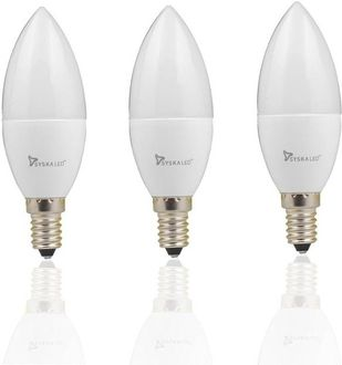 Syska 5W Candle E14 375L LED Bulb (Yellow,Pack of 3) Price in India