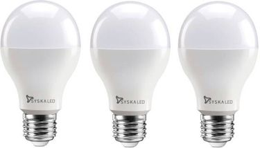Syska 15W Round E27 1500L LED Bulb (White,Pack of 3) Price in India