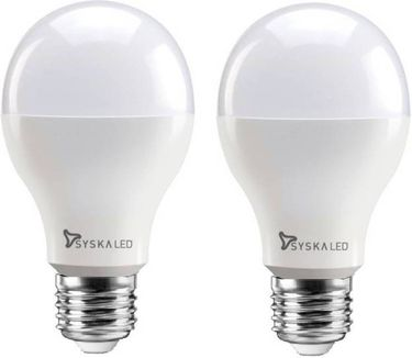 Syska 15W Round E27 1500L LED Bulb (White,Pack of 2) Price in India