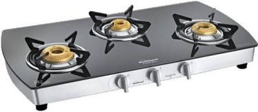 Sunflame Crystal Plus Dx 3B SS Glass Automatic Gas Stove Price in India