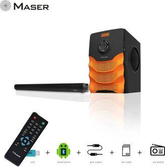 Maser XPLODE SBW5555BTF 2.1 Channel Bluetooth SoundBar Speaker Price in India