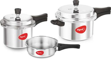 Pigeon Special Combo Pack Aluminium 2 L, 3 L, 5 L Pressure Cooker (Induction Bottom,Outer Lid) Price in India